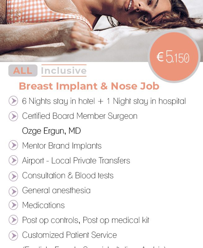 Breast Implant & Nose job All Inclusive