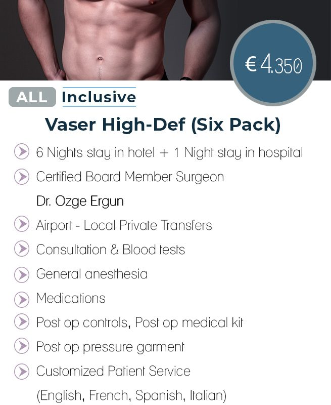 Vaser Liposuction Six Pack All Inclusive