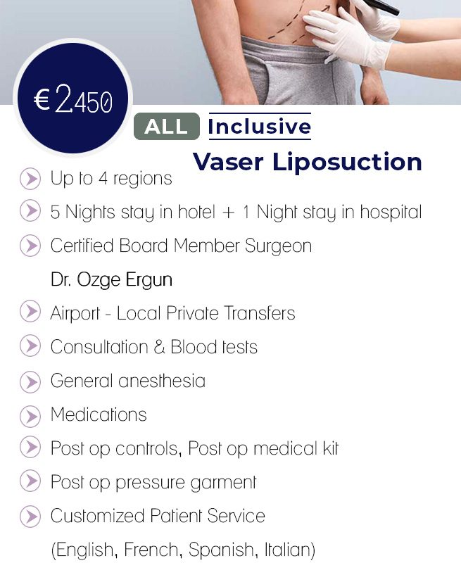 Vaser Liposuction Male All Inclusive