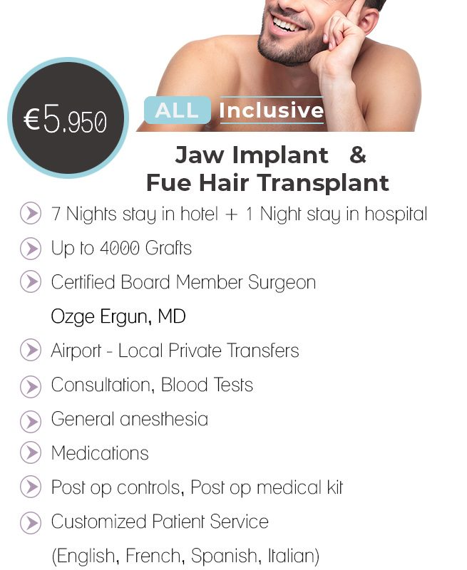 Jaw Implant + Hair Transplant