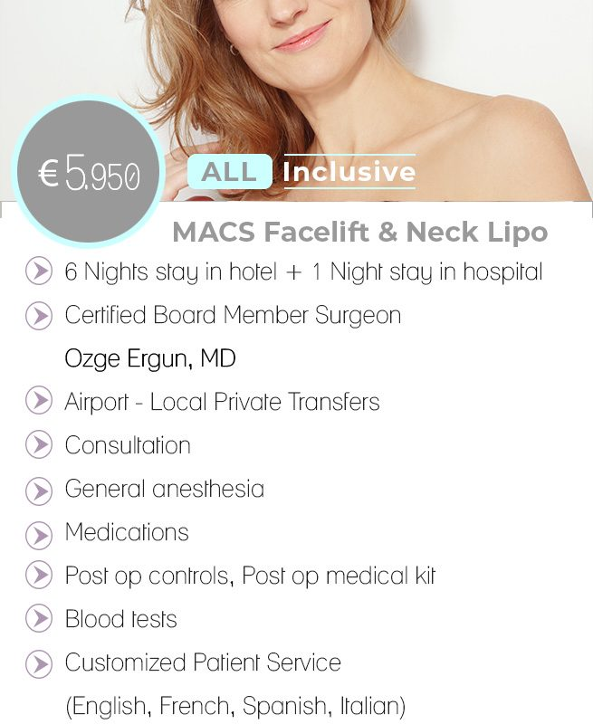 MACS Facelift - Neck Lipo All Inclusive Package