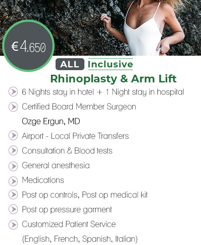 Rhinoplasty & Arm Lift All Inclusive Package