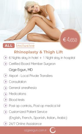 Rhinoplasty Thigh Lift All Inclusive Package