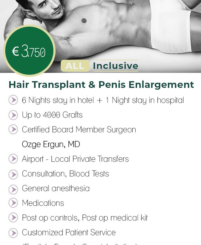Hair Transplant & Penis Enlargement All Inclusive