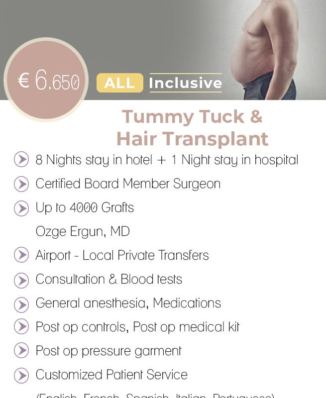 Tummy Tuck & Hair Transplant All Inclusive