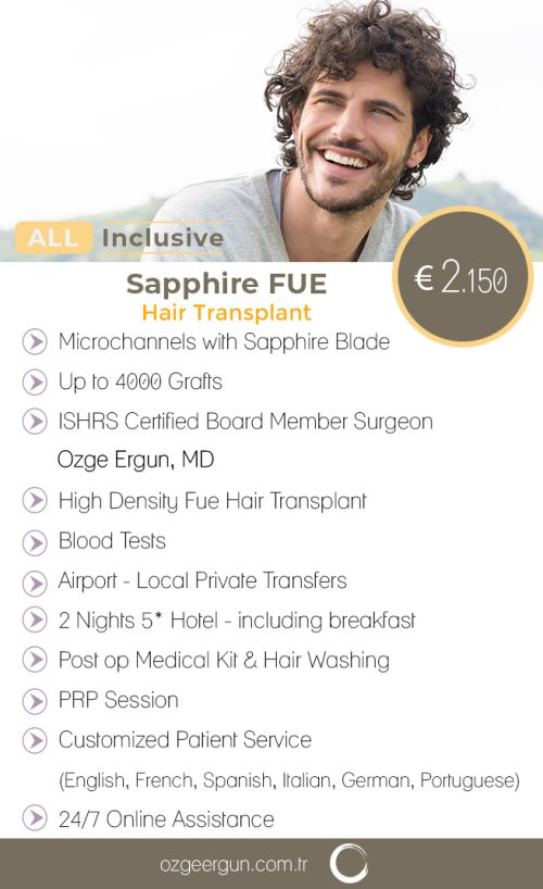 Sapphire Fue Hair Transplant All Inclusive